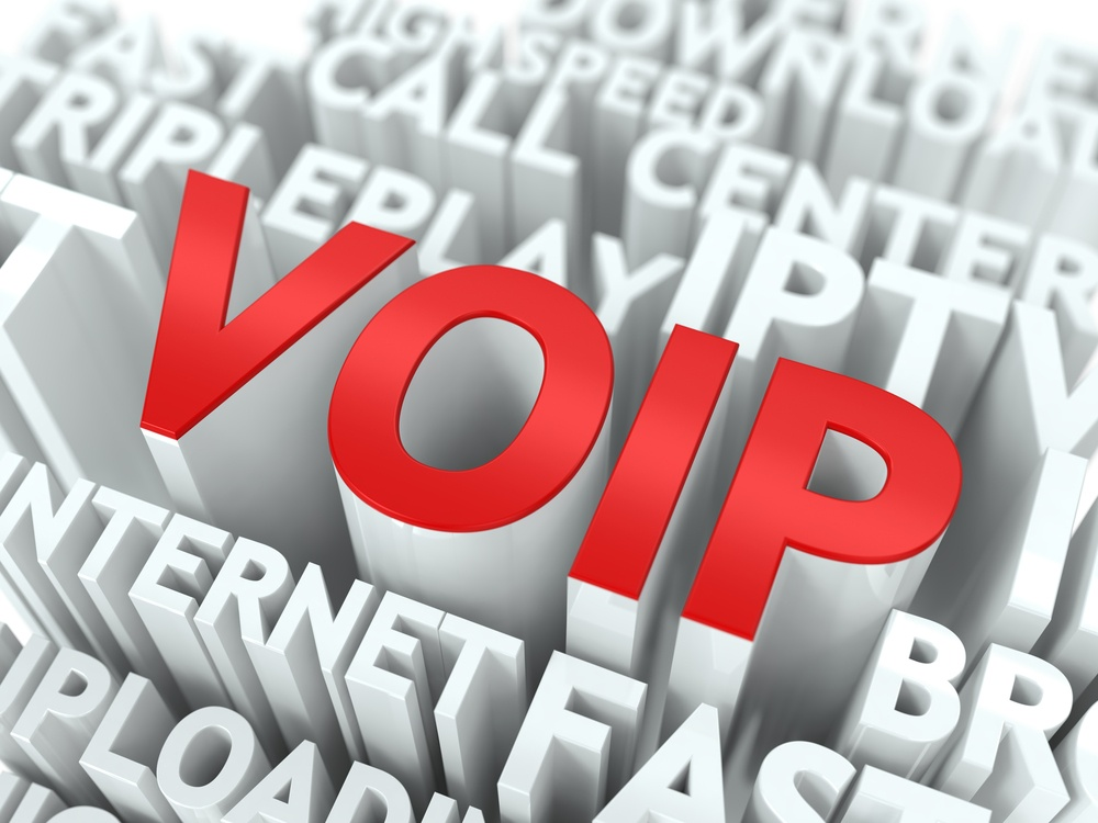VOIP - Wordcloud Internet Concept. The Word in Red Color, Surrounded by a Cloud of Words Gray..jpeg