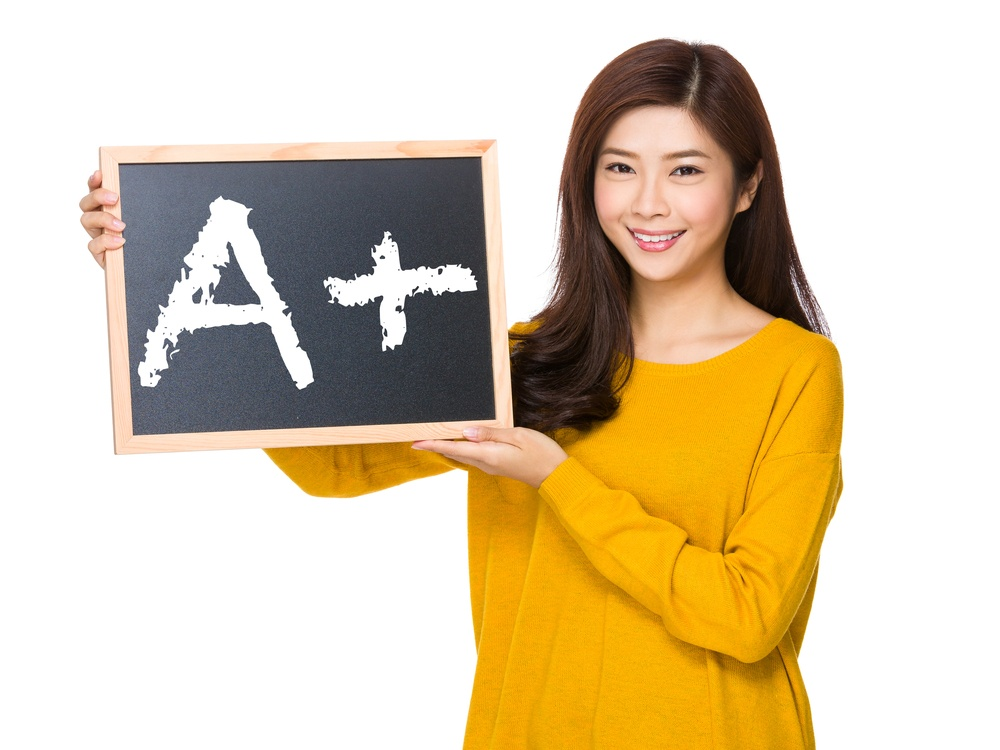 Young woman hand hold with the blackboard showing A plus mark.jpeg
